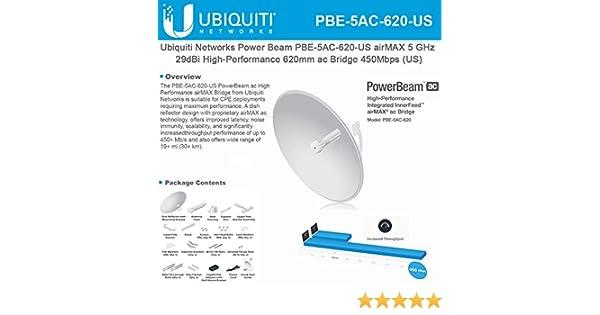 c192e2fd3a29b Ubiquiti Networks airMAX 5 GHz PowerBeam ac, PBE-5AC-620 (CPE with 29 dBi  antenna, 450+ Mbps)