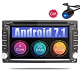 Eunavi 2 Din in Dash Car Stereo with Navigation Android 7.1 2G+32G Quad Core Double Din 6.2 in Universal Car Radio GPS Head Unit Bluetooth AM/FM/RDS Mirror Link Video Player Review