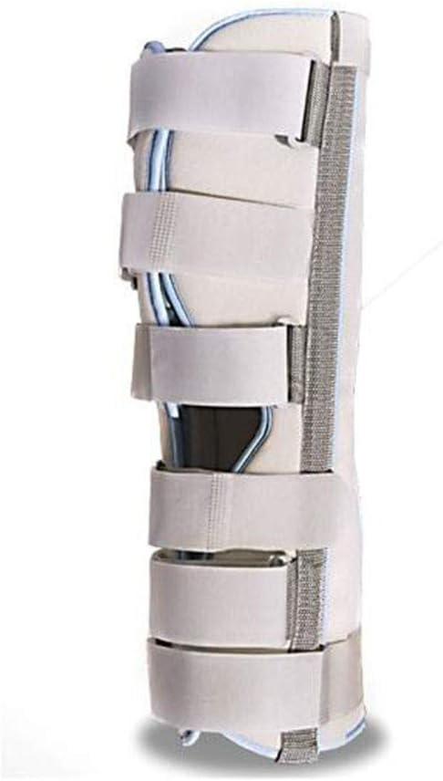 QLT BETY Rodilla Ajustable Inmovilizador Inmovilizador Férula Articulación ortopédica Fijación quirúrgica Estabilización Fractura Soporte de Tobillo, Blanco