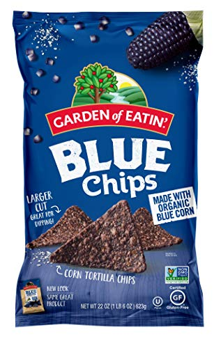 Organic Tortilla Chips - Garden of Eatin' Blue Corn Tortilla Chips, 22 oz. (Pack of 10) (Packaging May Vary)