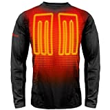 ActionHeat Base Layer Battery Operated Heated Shirt for Men - Electric Heated Clothing w/ 3 Heat Panels for Winter Innerwear, Outdoor Camping, Skiing, Hunting - Black