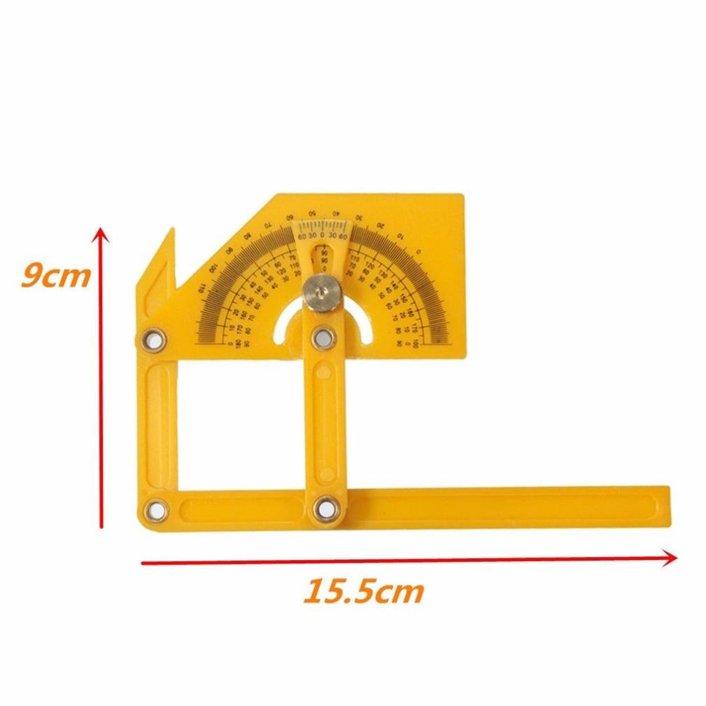 Ruler,SUPPION Angle Engineer Protractor Finder Measure Arm Ruler Gauge Tool by SUPPION (Image #2)
