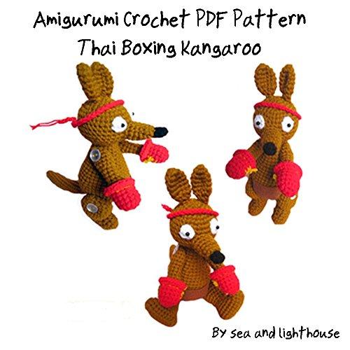 Amigurumi Crochet PDF Pattern-Thai Boxing Kangaroo