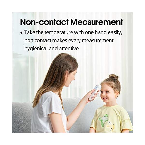 yuwell Thermomètre Frontal Infrarouge Sans Contact, Thermomètre Numérique Avec Lecture de Précision Instantanée, Alarme…