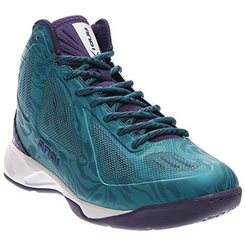 AND1 Men's Xcelerate Mid Sneaker,Teal/Purple,US 11.5 M