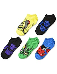 Transformers boys 5 Pack No Show Socks Socks