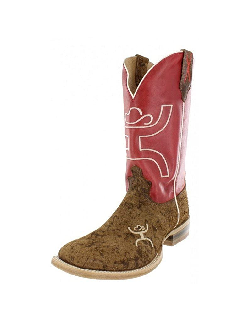 Western Boots Mens Square 10.5 EE Motiley Distressed MHY0014