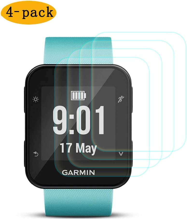 Screen Protector Compatible with Garmin Forerunner 35,CKANDAY 4 Pack Tempered Glass Protective Films Anti-Scratch High Definition Full Coverage Cover Smartwatch