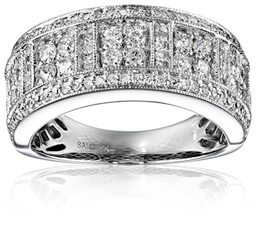 10k White Gold and Diamond Anniversary Ring (3/4cttw, H-I Color, I2-I3 Clarity), Size 7