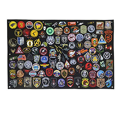 SOUTHYU Tactical Military Combat Morale Patch Holder Display Panel Board Military Hook and Loop Patches Organizer Frame (33.46 x 27.56 inch)