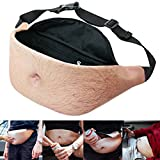 Dad Bag Bod Fanny Pack Fake Belly Men Hairy Beer Waist Pack Secret Zipper Pocket With Adjustable Belt Hilarious Gag Gift