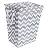 Taylor Madison Designs Chase Chevron Hamper in Grey/White