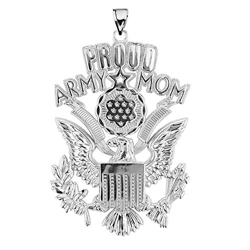 American Heroes U.S. Proud Army Mom Sterling Silver with The Great Seal Pendant ()