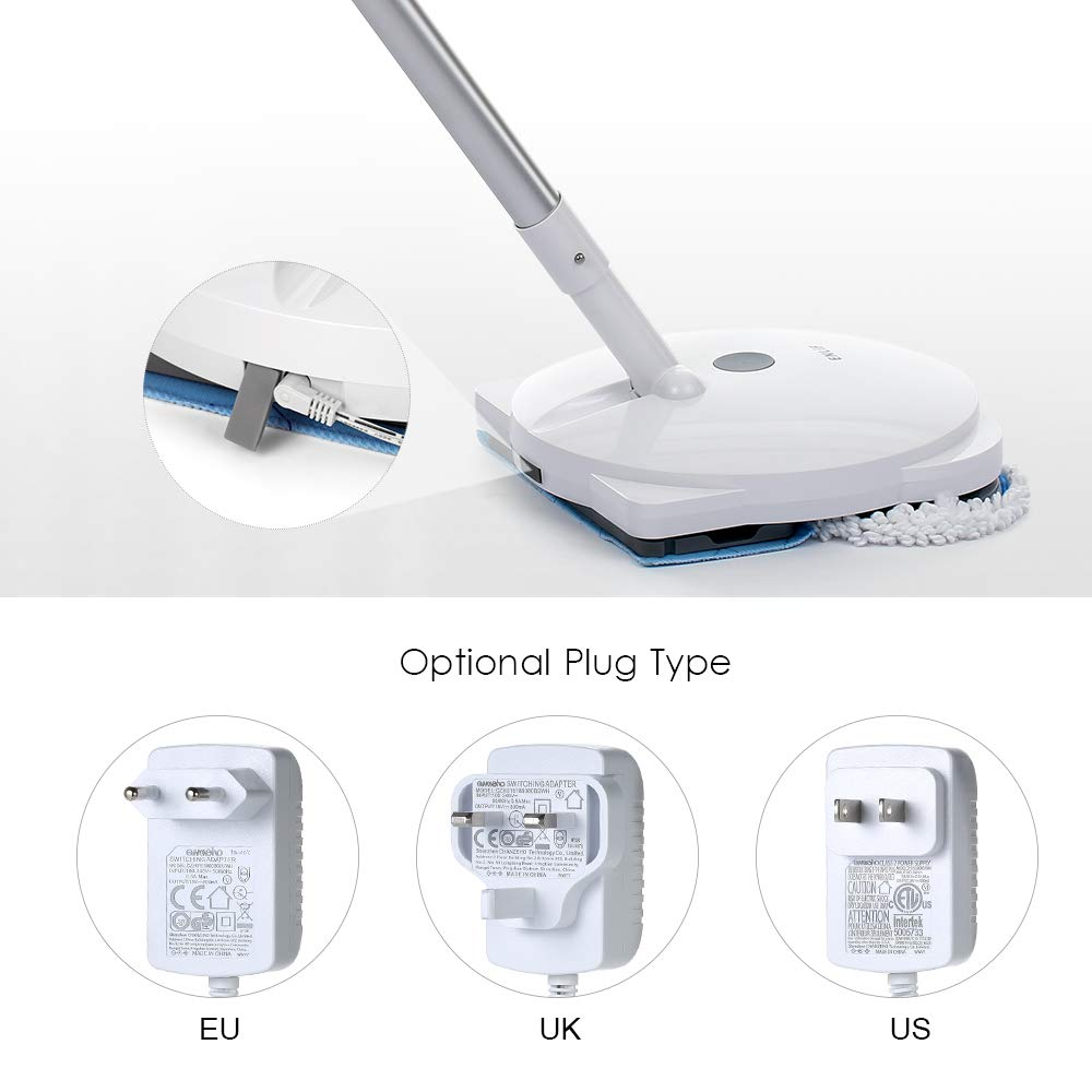 ENLiF Rechargeable Wireless Electric Mop Cordless Floor Cleaning Machine Electric Handheld Mop Electric Water Spraying Floor Wiping Machine Floor Cleaning Floor Care Device Multifunctional Swivel Mop by Blusea (Image #2)