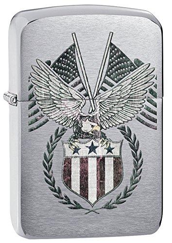 Zippo 1941 Replica Eagle & Flag Pocket L - Brushed Chrome Pocket Lighter Shopping Results