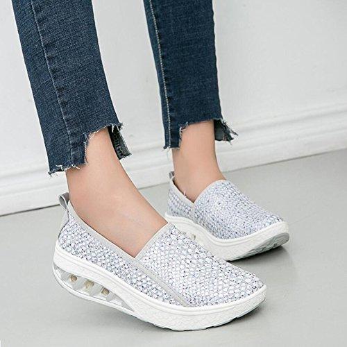 B Flat Shaking Pu Platform Scarpe Shake Mocassini Shoes Xue Da Autunno Fitness E Sneakers Athletic Mutandine Loafers Donna Primavera Guida H6WxqOxU4