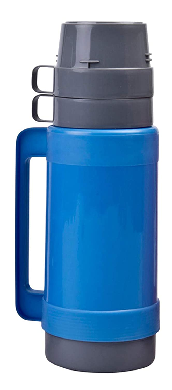 1 Liter Thermoskanne mit 2 Tassen /& Zuckerbeh/älter Gr/ün Farbe:Pink Blau mit Glaseinsatz Pink oder Lila