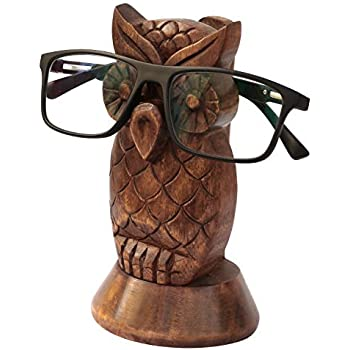 Kamla Sellers Spectacle Holder Wooden Eyeglass Stand Handmade Display Optical Glasses Accessories (Owl)