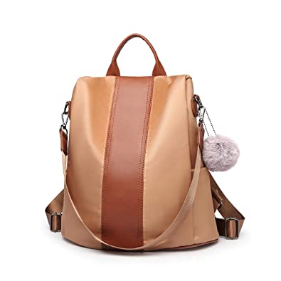 1678e6e70a38 Miss Lulu Women Backpack Casual Waterproof Shoulder Bag Rucksack with Grab  Handle Anti-theft (