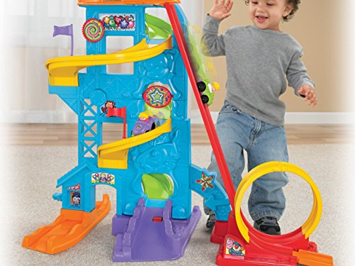 51Vl8KxJ99L - Fisher-Price Little People Loops 'n Swoops Amusement Park [Amazon Exclusive]