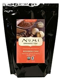 Numi Organic Tea Rooibos Chai, 16 Ounce Pouch, Caffeine Free Herbal Teasan, Bulk Pouch of Loose Leaf Rooibos Tea Blended with Chai Spices, Premium Organic Non-Caffeinated Tisane, Red Tea