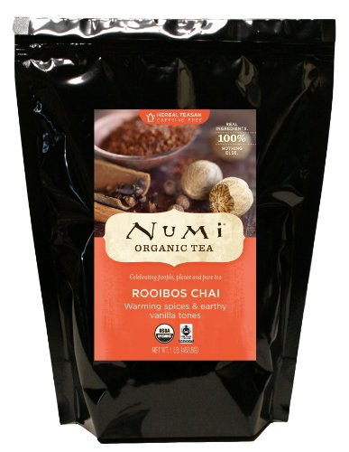 Spice Natural Herbal Tea (Numi Organic Tea--Rooibos Chai--16 Ounce Bulk Pouch--Caffeine Free Herbal Teasan Loose Leaf--Premium Organic Non-Caffeinated Tisane)