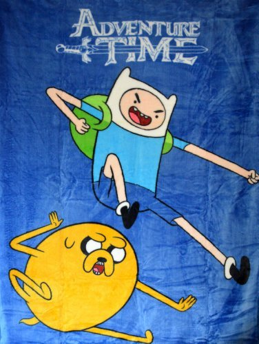 "Adventure Time High Pile Twin Blanket Throw 60""X80""--Sky Kick"