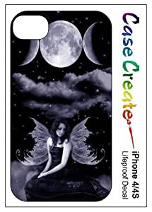 Triple Moon Fairy Wicca Decorative Sticker Decal for your iPhone 4 4S Lifeproof Case