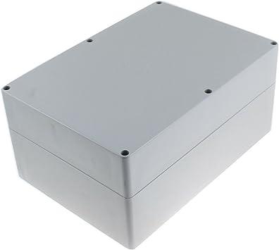 Plástico Gris Proyecto Caja Electrónica BRICOLAJE Conexiones Case 263x185x125mm: Amazon.es: Electrónica