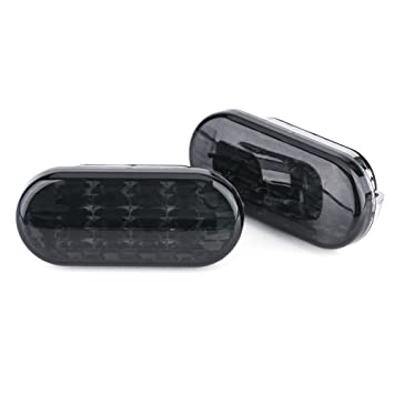 2 luces LED de ámbar para coche con luz LED para intermitente, luz de marcador lateral, luz de lente negra, nuevo Beetle: Amazon.es: Coche y moto