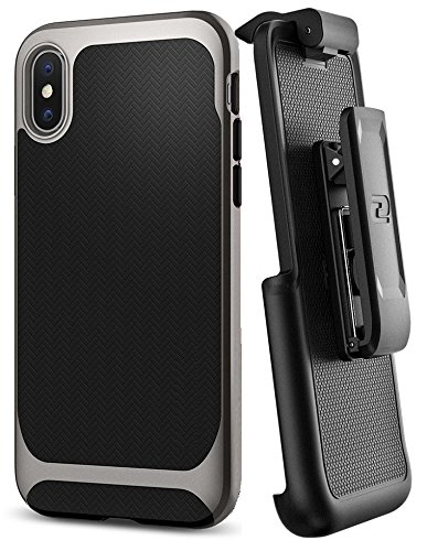 Encased Belt Clip Holster for Spigen Neo Hybrid Case – Apple iPhone X (case not included)