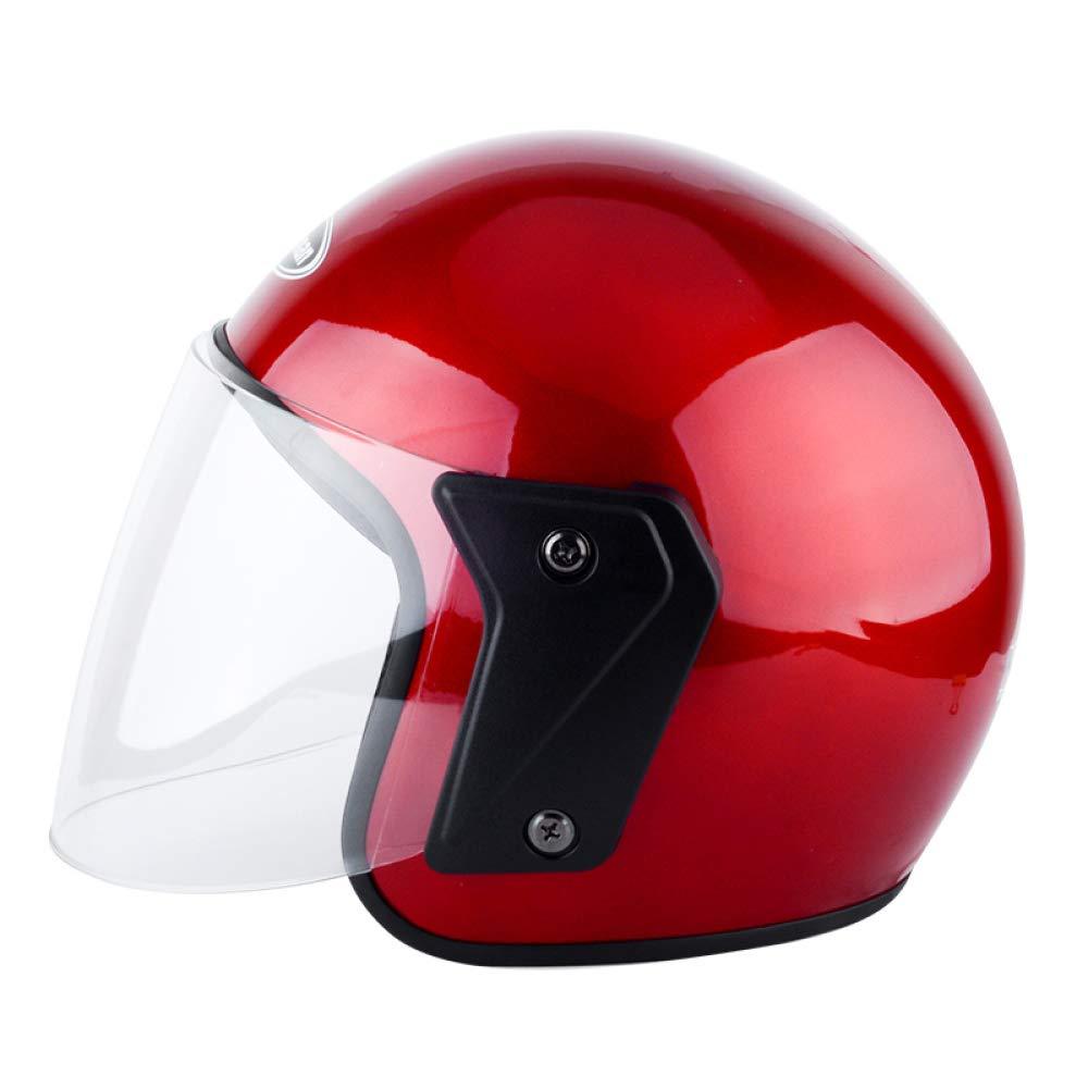 YSYW Casco Moto Integrale Casco Moto da Corsa per Uomo E Donna,Orange*L Moto, accessori e componenti
