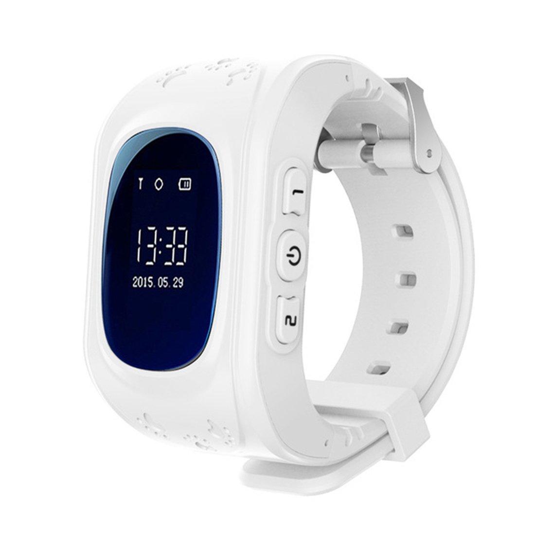 PINCHU Q50 Oled pantalla GPS LBS reloj rastreador Anti-Perdida SOS Soporte tarjeta SIM Dial Llame a bebšŠ reloj inteligente para ni?os reloj telšŠfono, ...