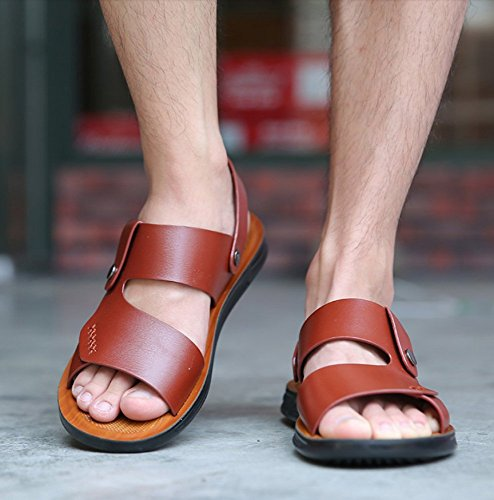 uomo uomo casual morbido Brown8858 estate outdoor antiscivolo da spiaggia da WFL estate sandali fondo wear moda Sandali pantofole 8xawqWTE