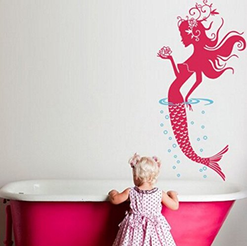 Mermaid Bathroom Sticker Stickers Removable