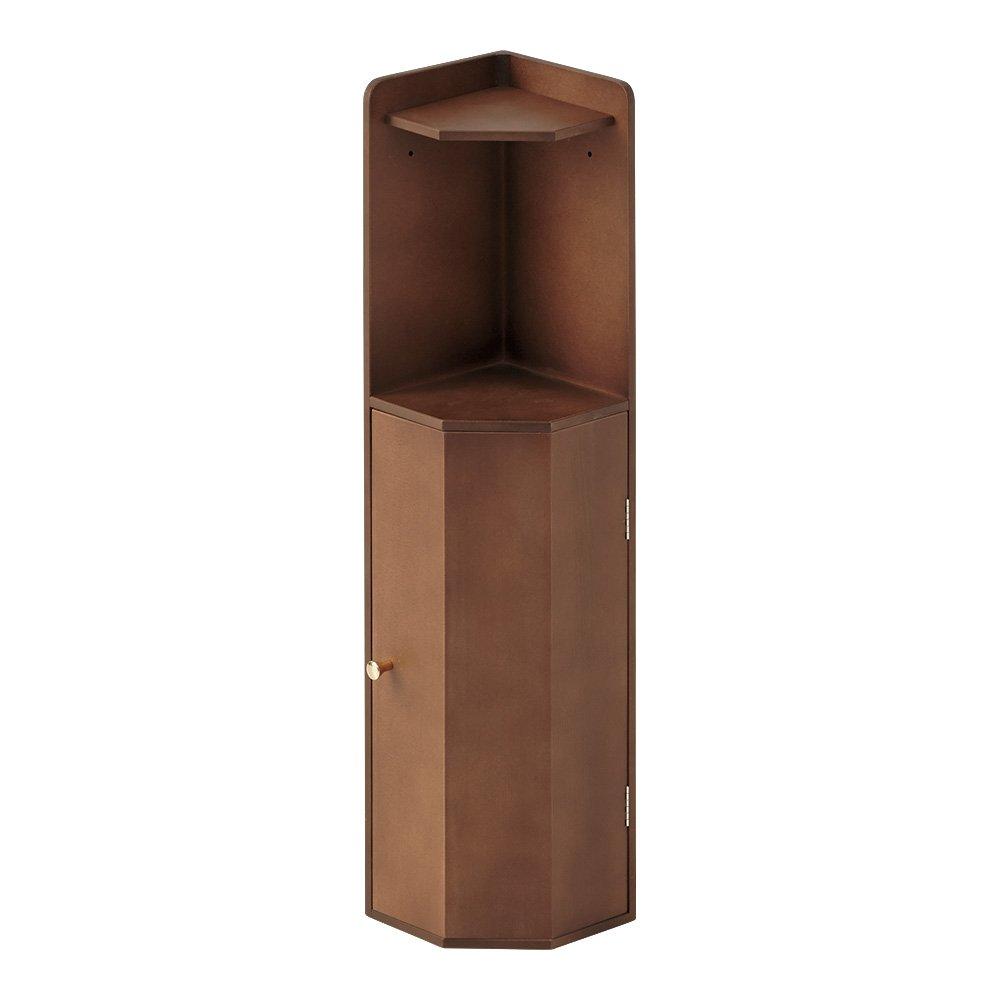 こだわりトイレの木製コーナーラック ロー 高さ75cm 542619(サイズはありません ウ:ダークブラウン) B079BKY2NH  ウ:ダークブラウン