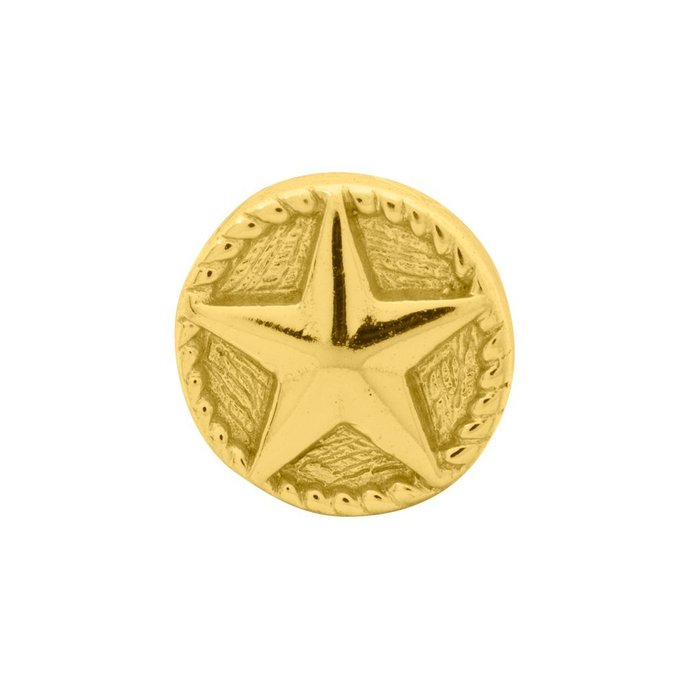 Sterling Silver Gold-Plated Reflection Star Solid Bead