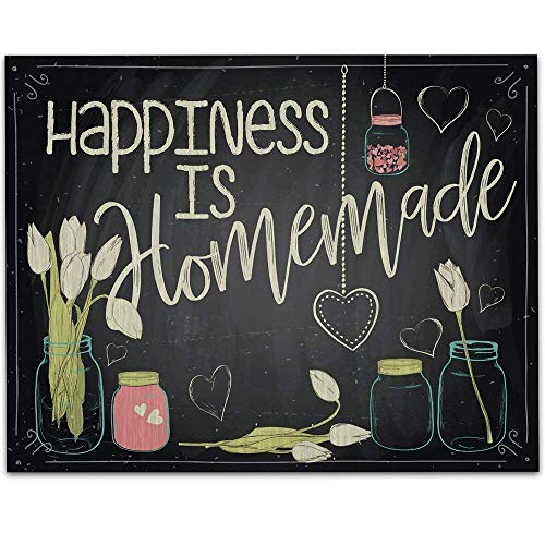 Happiness is Homemade - 11x14 Unframed Typography Art Prints - Great Kitchen and Dining Room Decor Under $15 from Personalized Signs by Lone Star Art