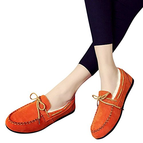 Round Toe Shoes for Women,Cinsanong Sale! Ladies Flats Rubber Peas Flat Casual Shoes Soft Lightweight Wedges Shoes ()