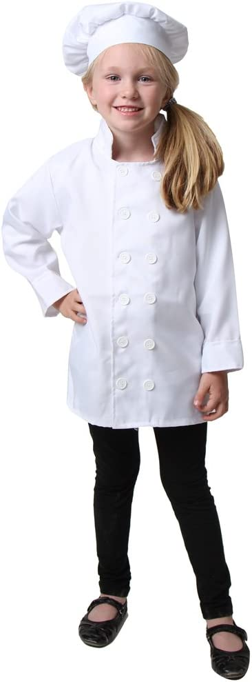 Amazon.com: Kids Chef Costume Separates - Jacket & Hat or ...