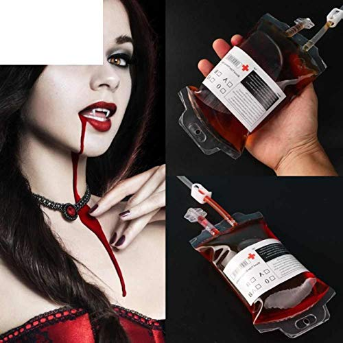 20Pcs Halloween Party Drink Container Blood Juice Energy Bags Supplies DIY Decoration]()