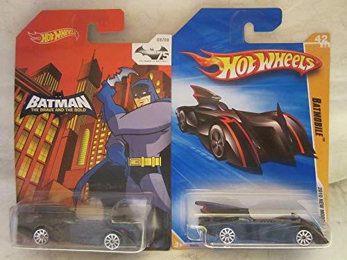 Hot Wheels Batman The Brave and The Bold Batmobile & 2010 New Models Batmobile Die Cast 1/64 Scale 2 Car Bundle!