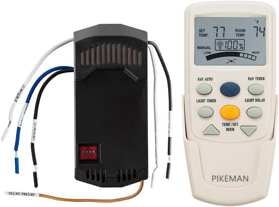 Pikeman Ceiling Fan Remote Control Replace Hampton Bay Thermostatic LCD W Fan Reverse Function FAN-9T L3HFAN-9T for FAN-10R