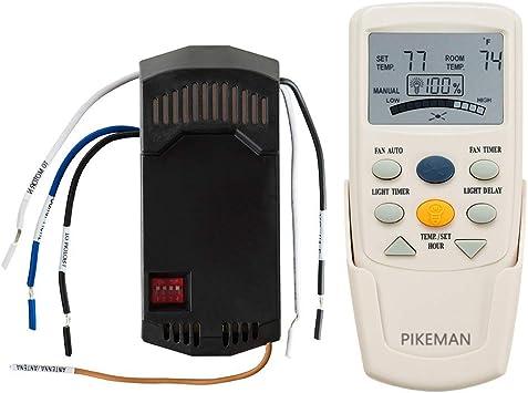 Hampton Bay Harbor Breeze FAN-9T 8-Button LCD Remote BLACK w// Timer Button+Mount