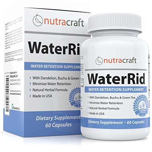 Natural Diuretic Water Pill with Dandelion and Potassium to Lose Water Weight and Bloating Relief - Premium Herbal Water Retention Supplement - 60 Capsules - Made in USA by Nutracraft (Image #9)