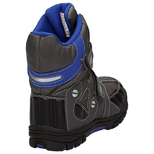 Jungen EUR Gr眉n Wasserabweisend 467101 Blau Canadians Klettverschluss Stiefel Schwarz Warmfutter Schnee 33;Farbe Boots Winter Blau Grau Schuhgr枚脽e 5Fv6vx0