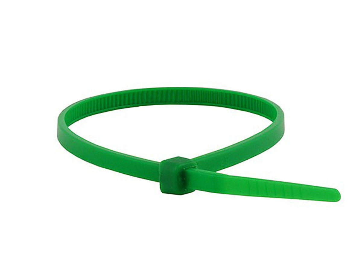 Monoprice Cable Tie 4 inch 18LBS, 100pcs/Pack - Green