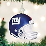 OLD WORLD CHRISTMAS NEW YORK GIANTS FOOTBALL HELMET BLOWN GLASS ORNAMENT 3.5""