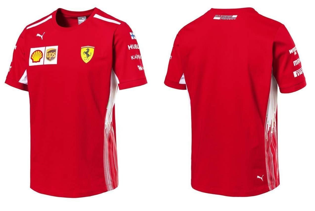 Scuderia Ferrari F1 Racing SF Team Driver Kimi Raikkonen T-shirt Officiel 2018