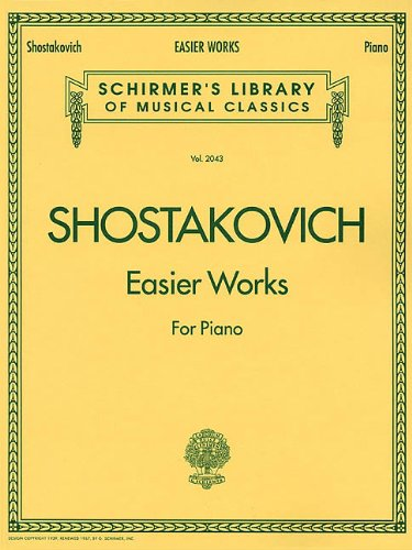 Easier Works Schirmer Library of Classics Volume 2043 Piano Solo (Schirmers Library of Musical Classics) (Tapa Blanda)